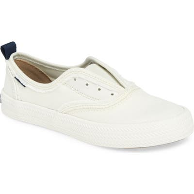 Sperry Crest Rope Laceless Sneaker, White