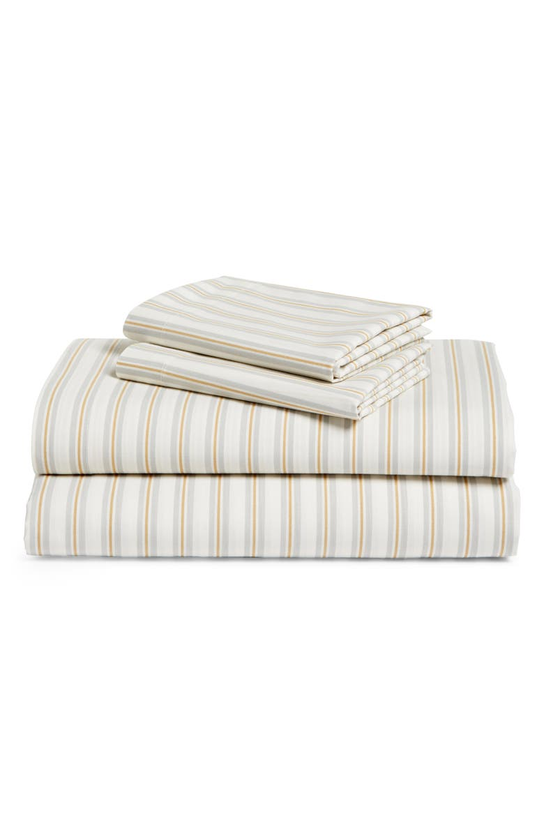 BP. 200 Thread Count Stripe Sheet Set, Main, color, IVORY MULTI
