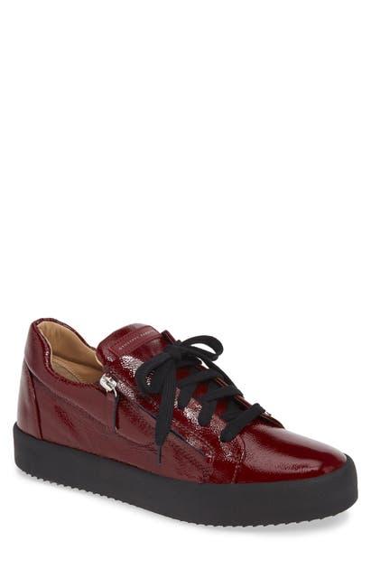 Giuseppe Zanotti Low Top Sneaker In Pinot