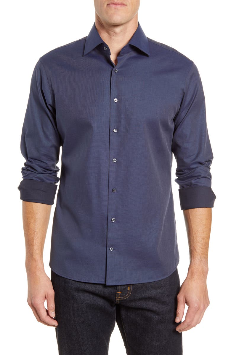 BRAX Harry Modern Fit Button-Up Shirt, Main, color, 22-BLUE