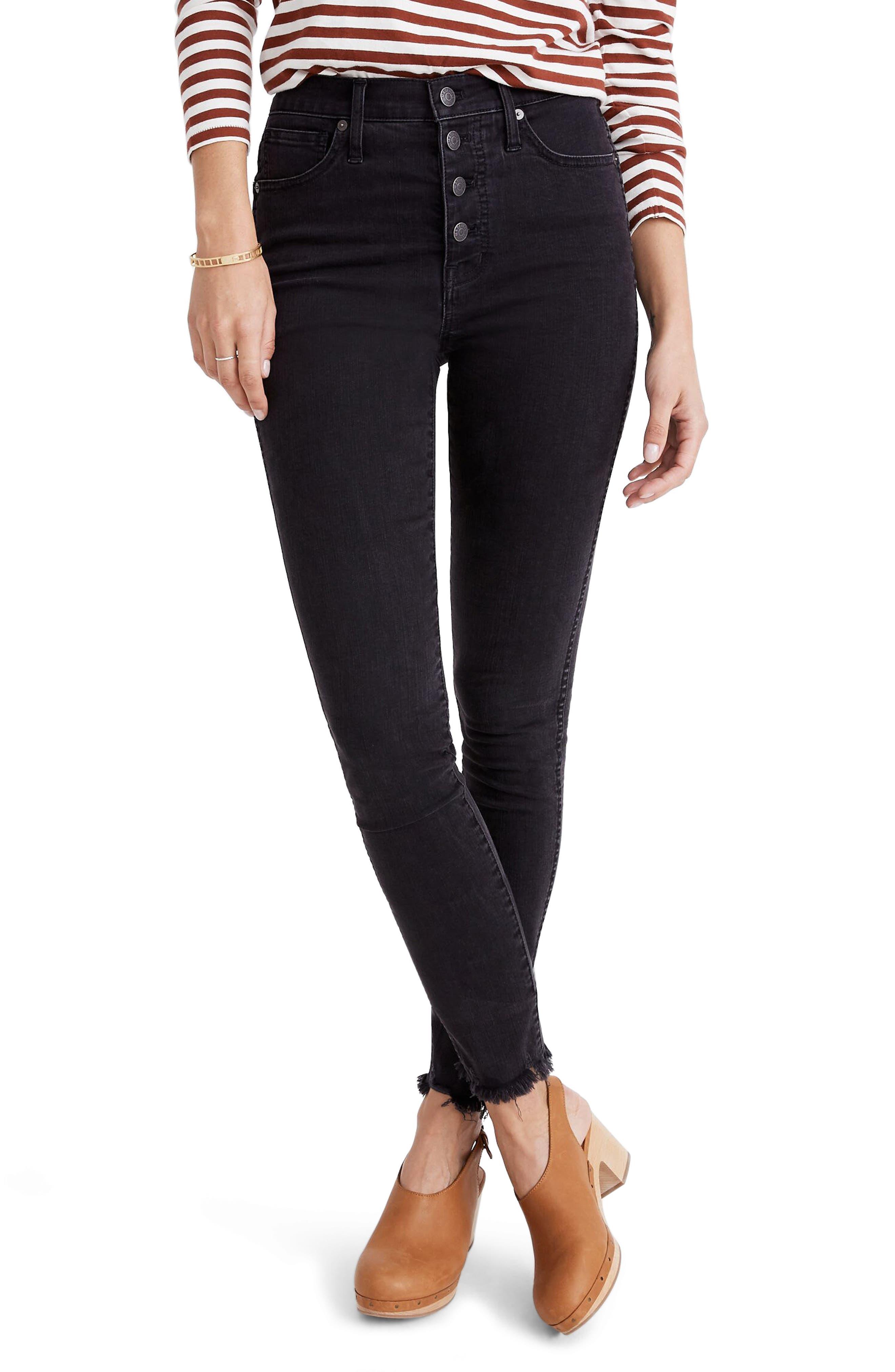 Madewell 10-Inch High Waist Skinny Jeans Button-Through Edition (Berkeley Wash) (Regular & Plus Size)