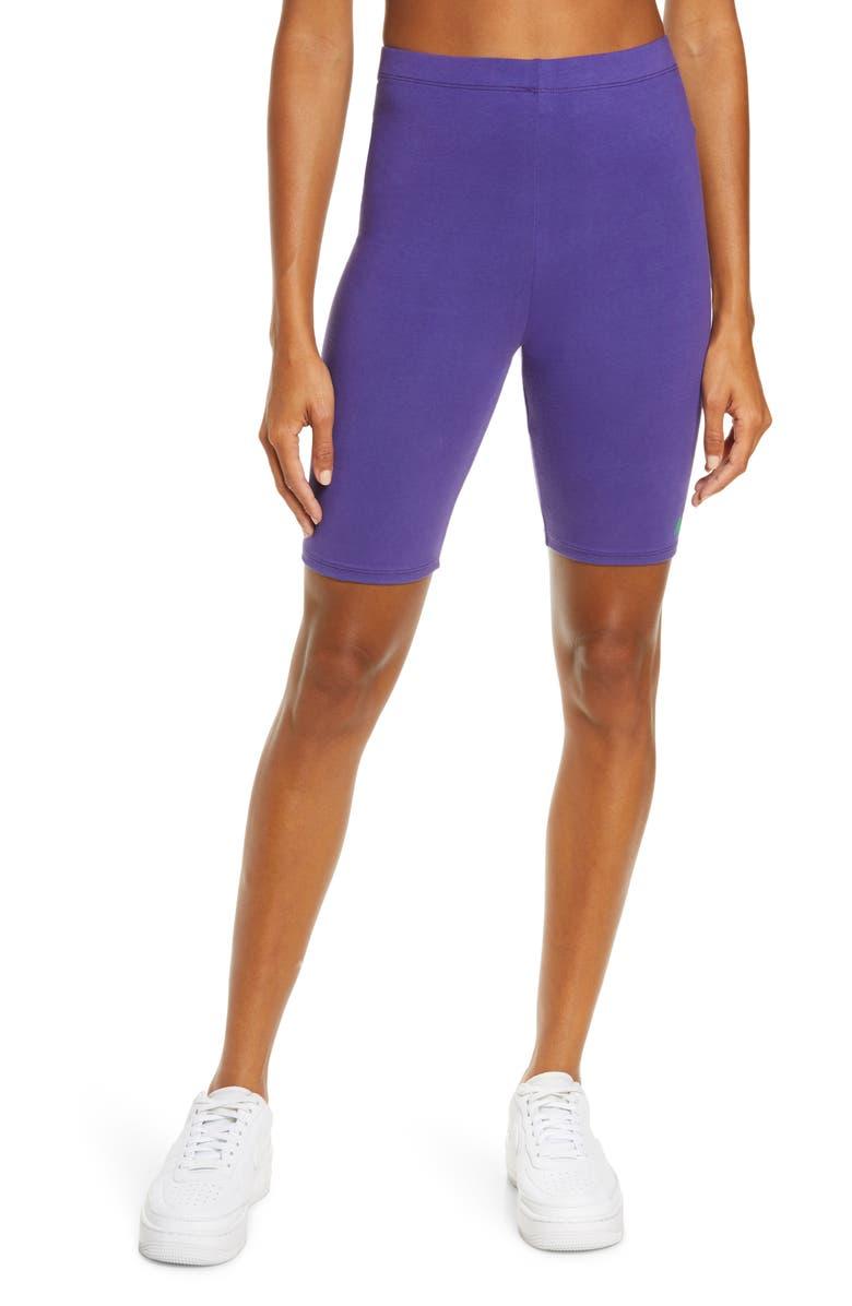 MELODY EHSANI ME. Biker Shorts, Main, color, ULTRA VIOLET/ GRASS GREEN