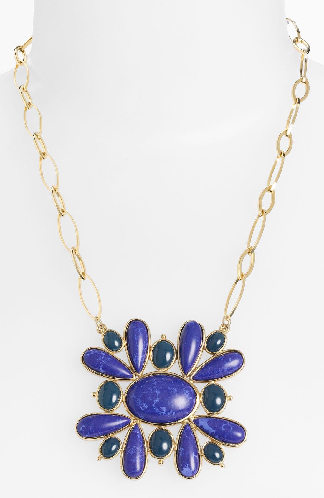 'Lapis of Luxury' Statement Pendant Necklace, Main, color, 400