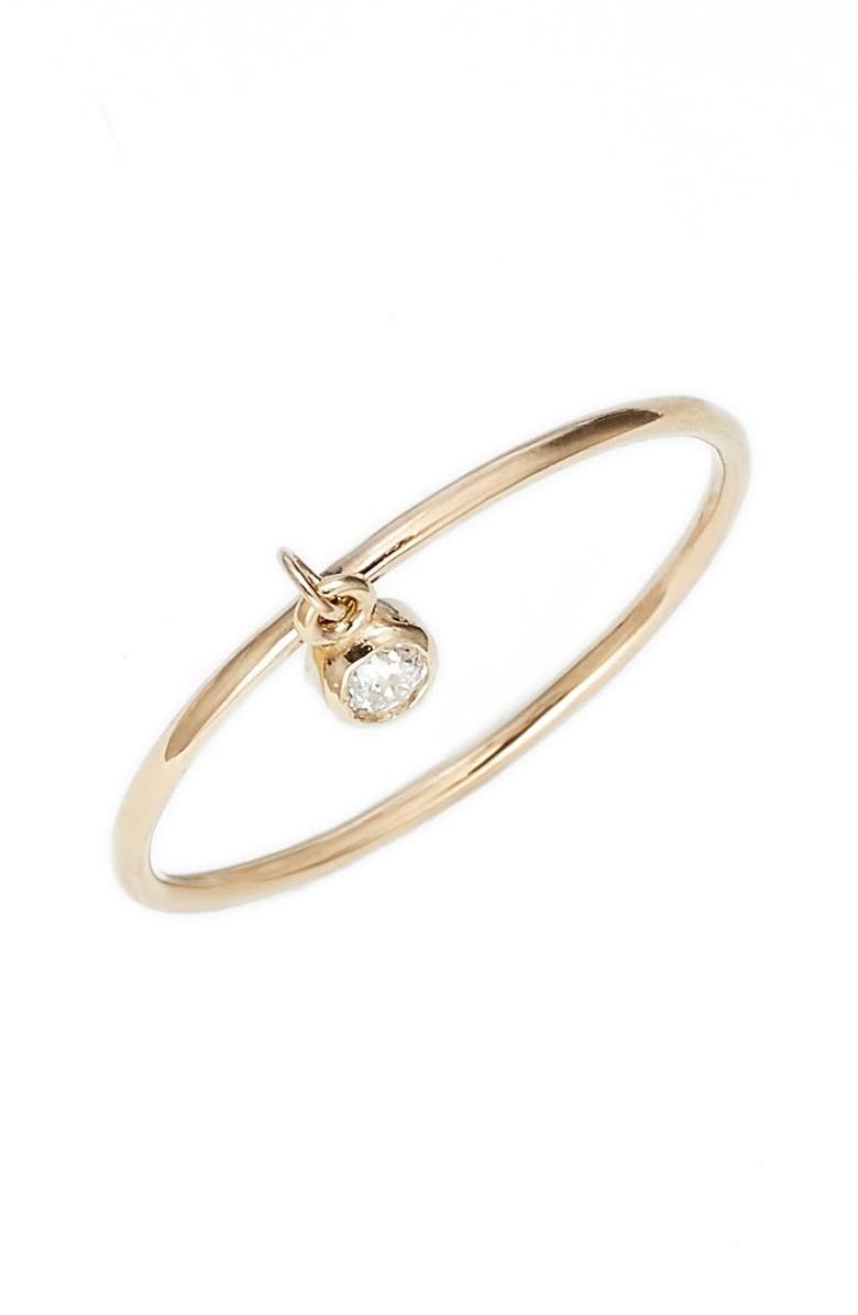 ZOË CHICCO Dangling Diamond Ring, Main, color, 710