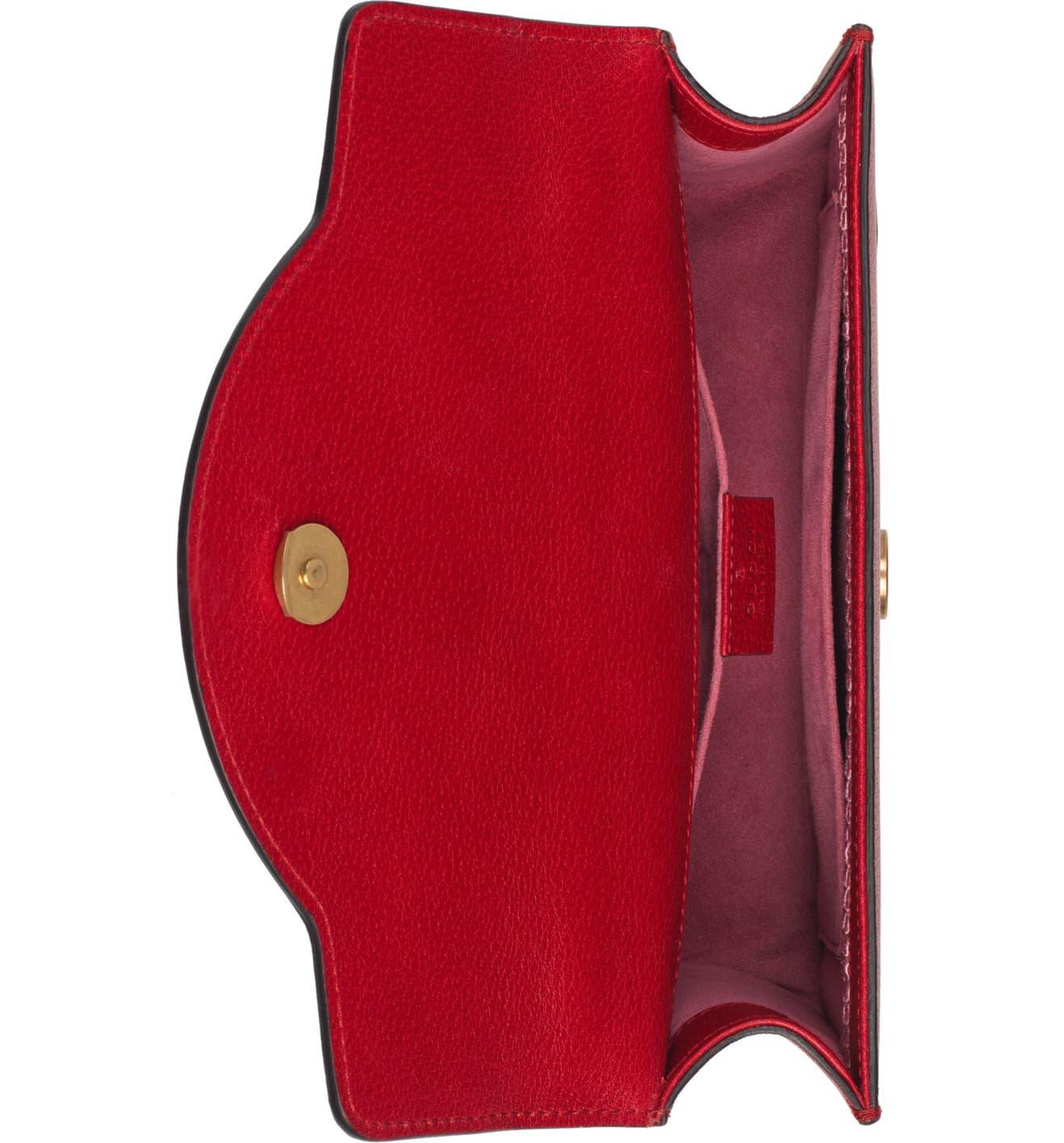 53c1e373c97e Gucci Small Linea Ricami Floral Embroidered Shoulder Bag   Nordstrom