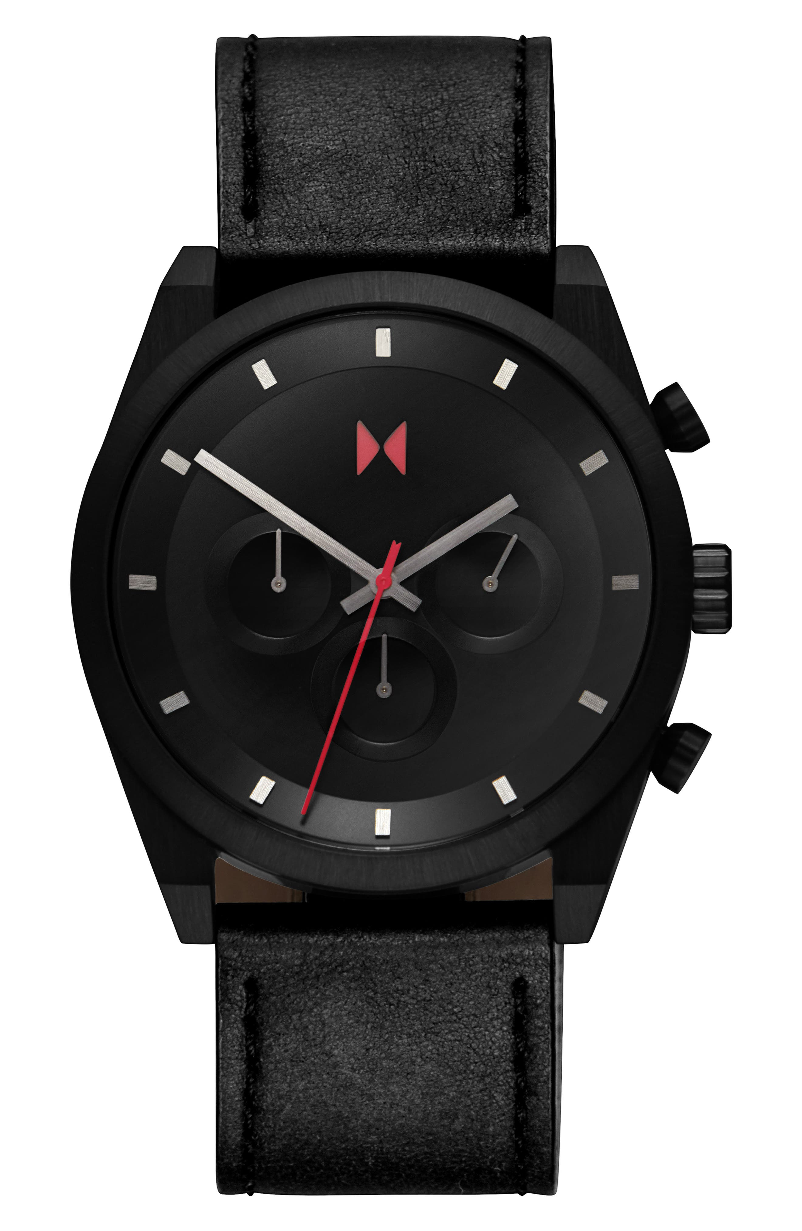 Element Chronograph Leather Strap Watch