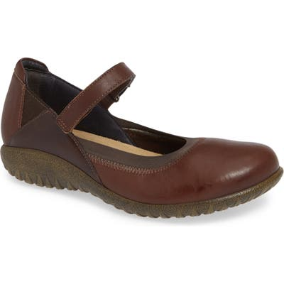 Naot Kaoti Mary Jane Flat, Brown
