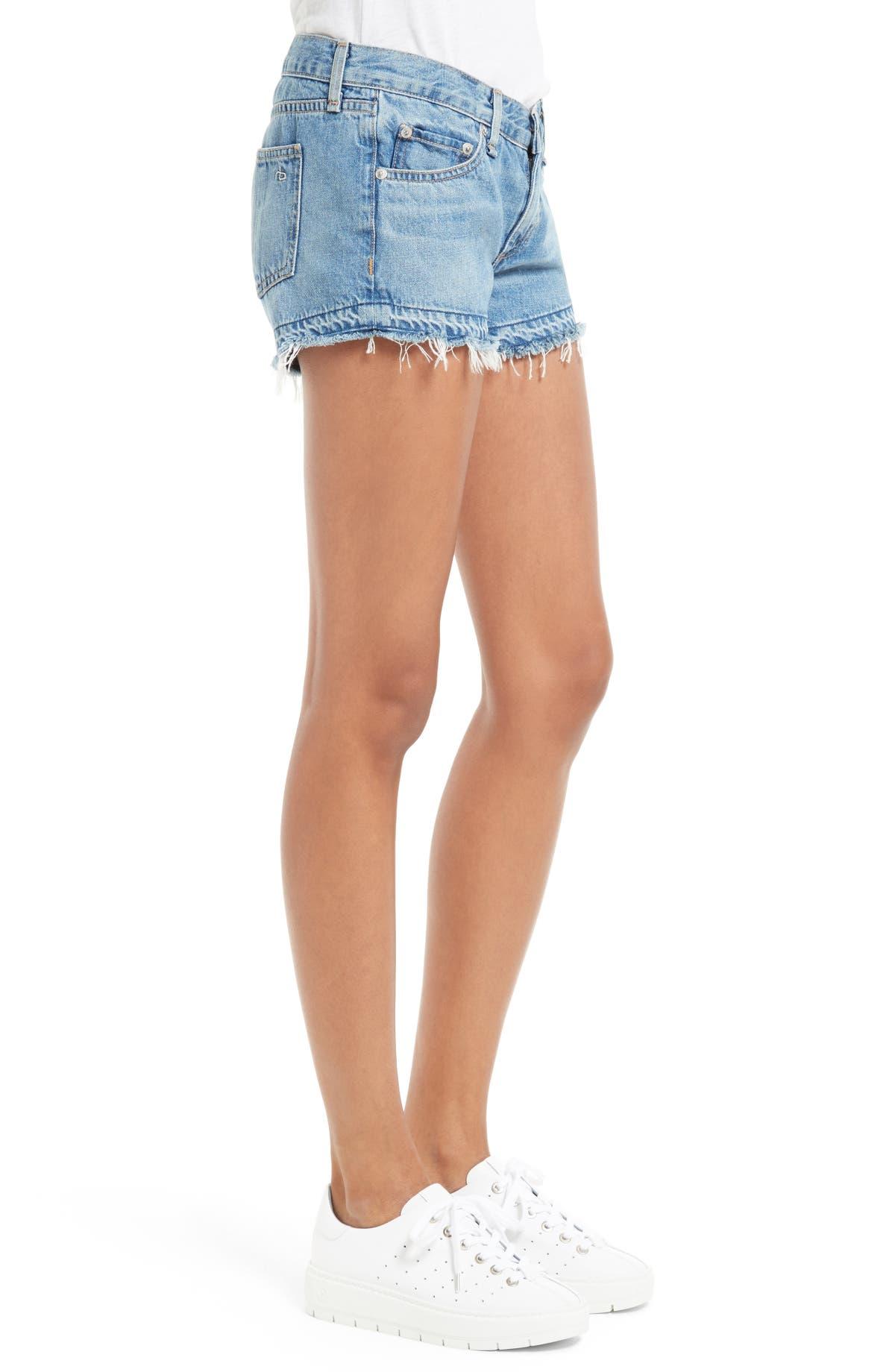 Released Shorts Jean Released Denim Hem Released Denim Hem Hem Jean Shorts Denim Jean mwN80n