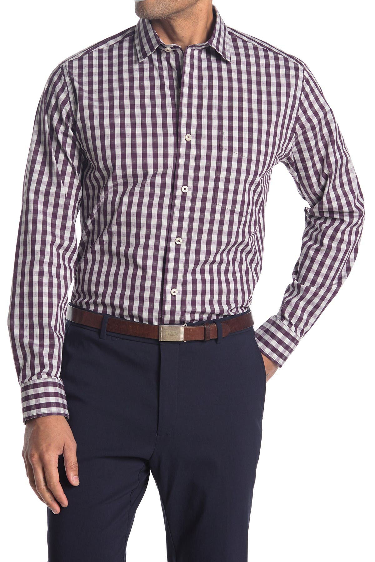 Image of Cole Haan Spread Collar Long Sleeve Sport Shirt