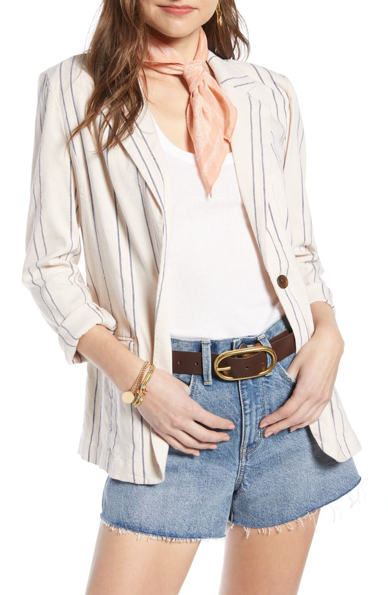 TREASURE & BOND Stripe Relaxed Blazer, Main, color, 260