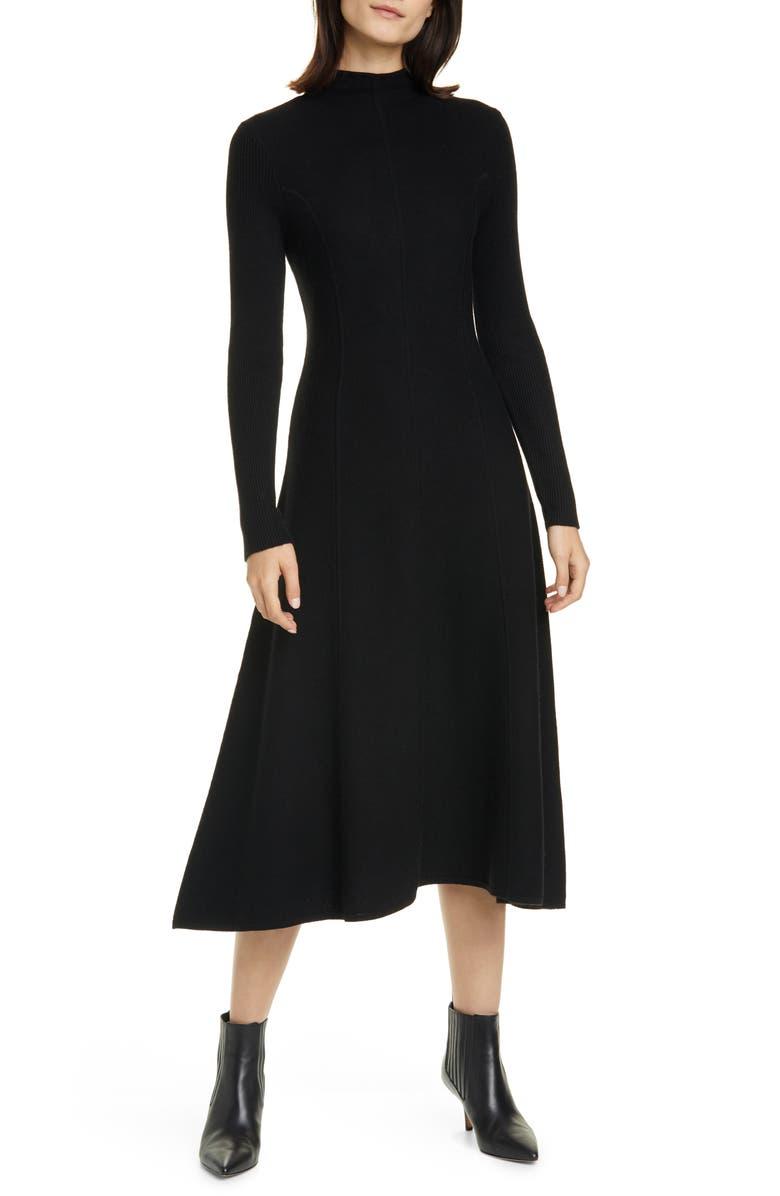 Long Sleeve Merino Wool Sweater Dress
