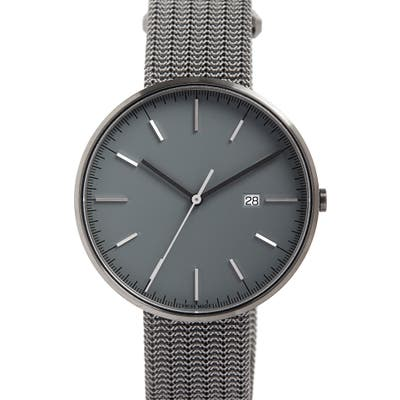 Uniform Wares M-Line Mesh Bracelet Watch, 40Mm