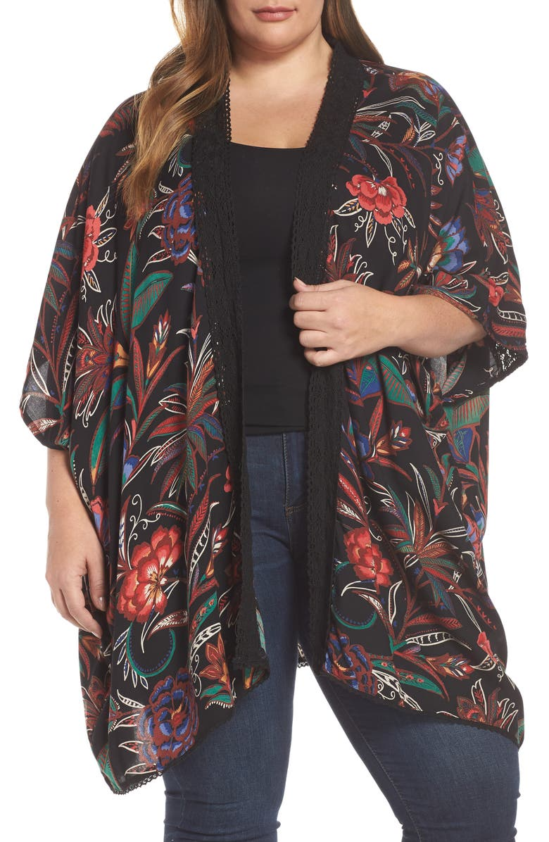 ANGIE Floral Duster, Main, color, 001