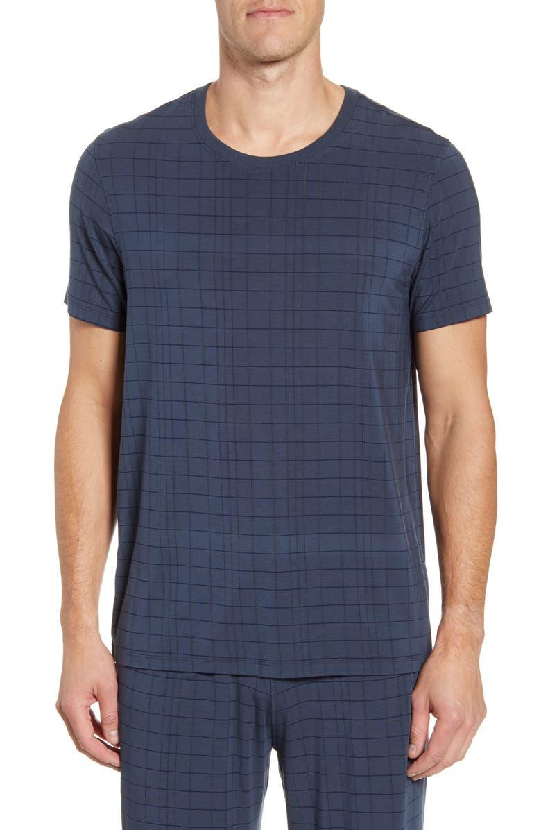 DANIEL BUCHLER Modal Blend Crewneck T-Shirt, Main, color, PRUSSIAN BLUE