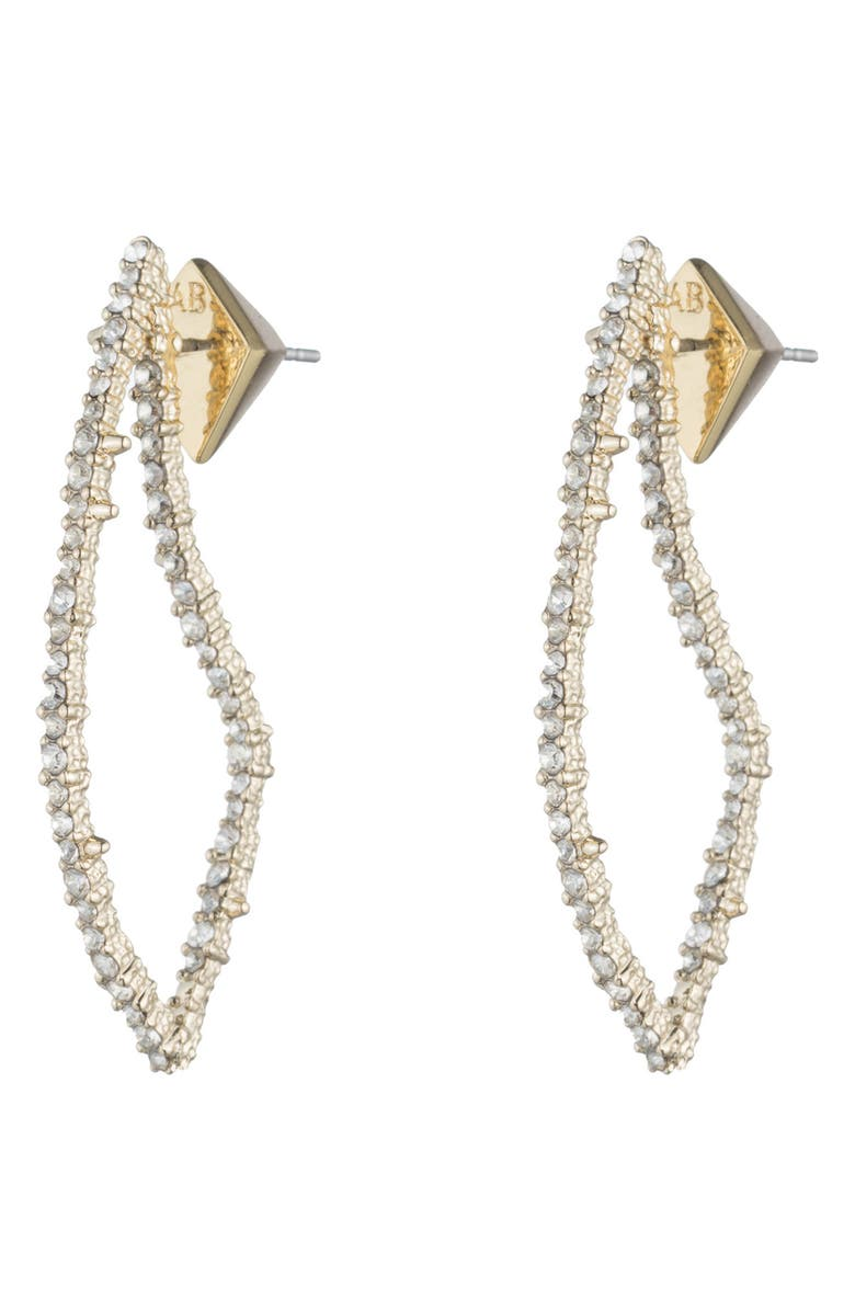 ALEXIS BITTAR Crystal Encrusted Abstract Thorn Drop Earrings, Main, color, CRYSTAL/ GOLD