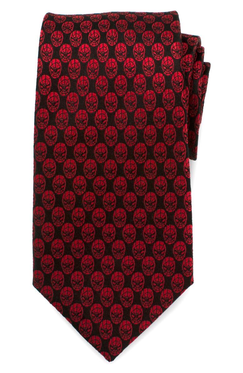 CUFFLINKS, INC. Spider-Man Silk Tie, Main, color, RED