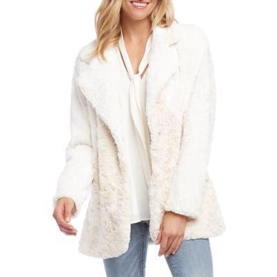 Karen Kane Faux Fur Jacket, Ivory
