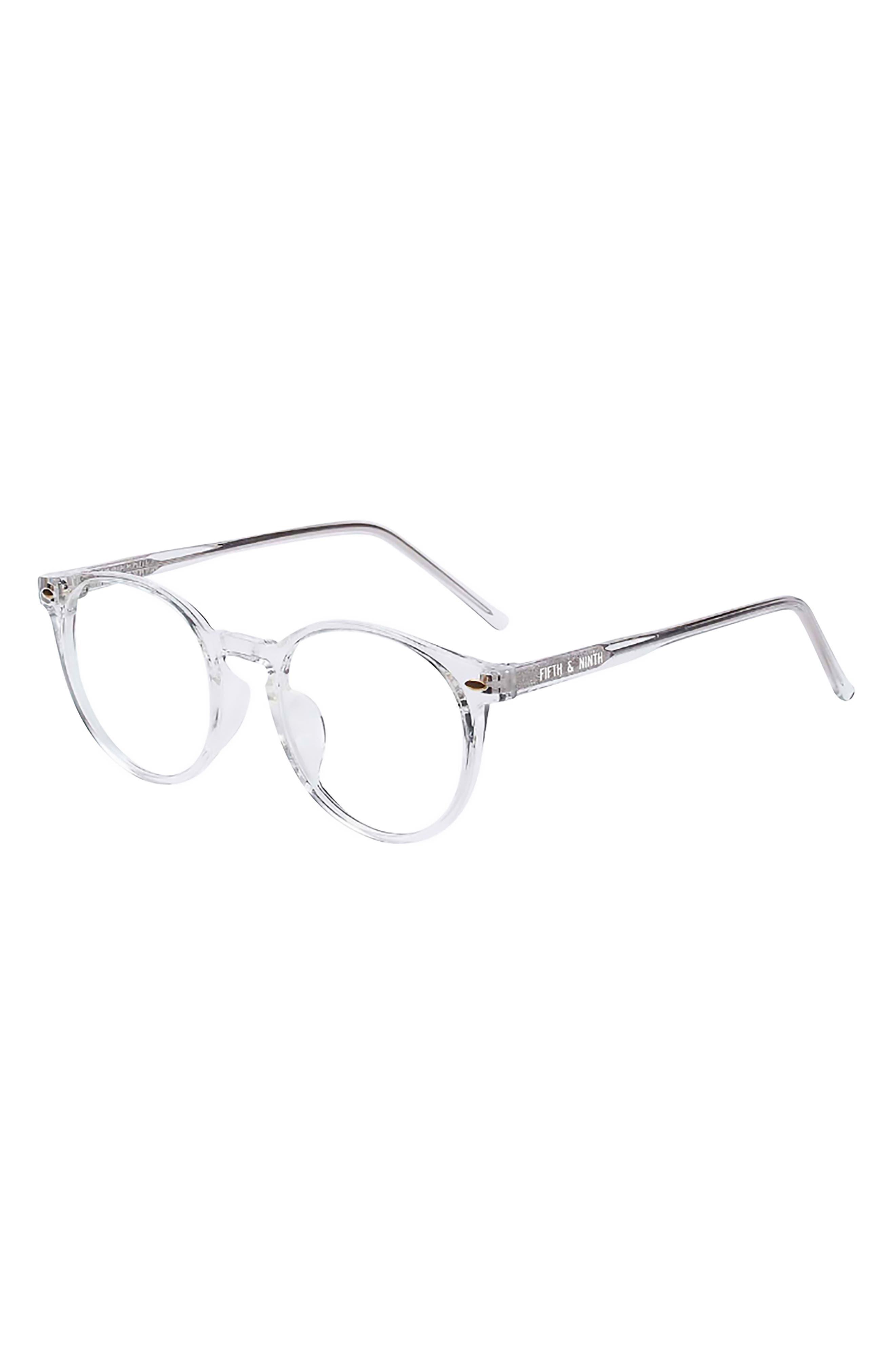Dakota 48mm Round Blue Light Blocking Glasses