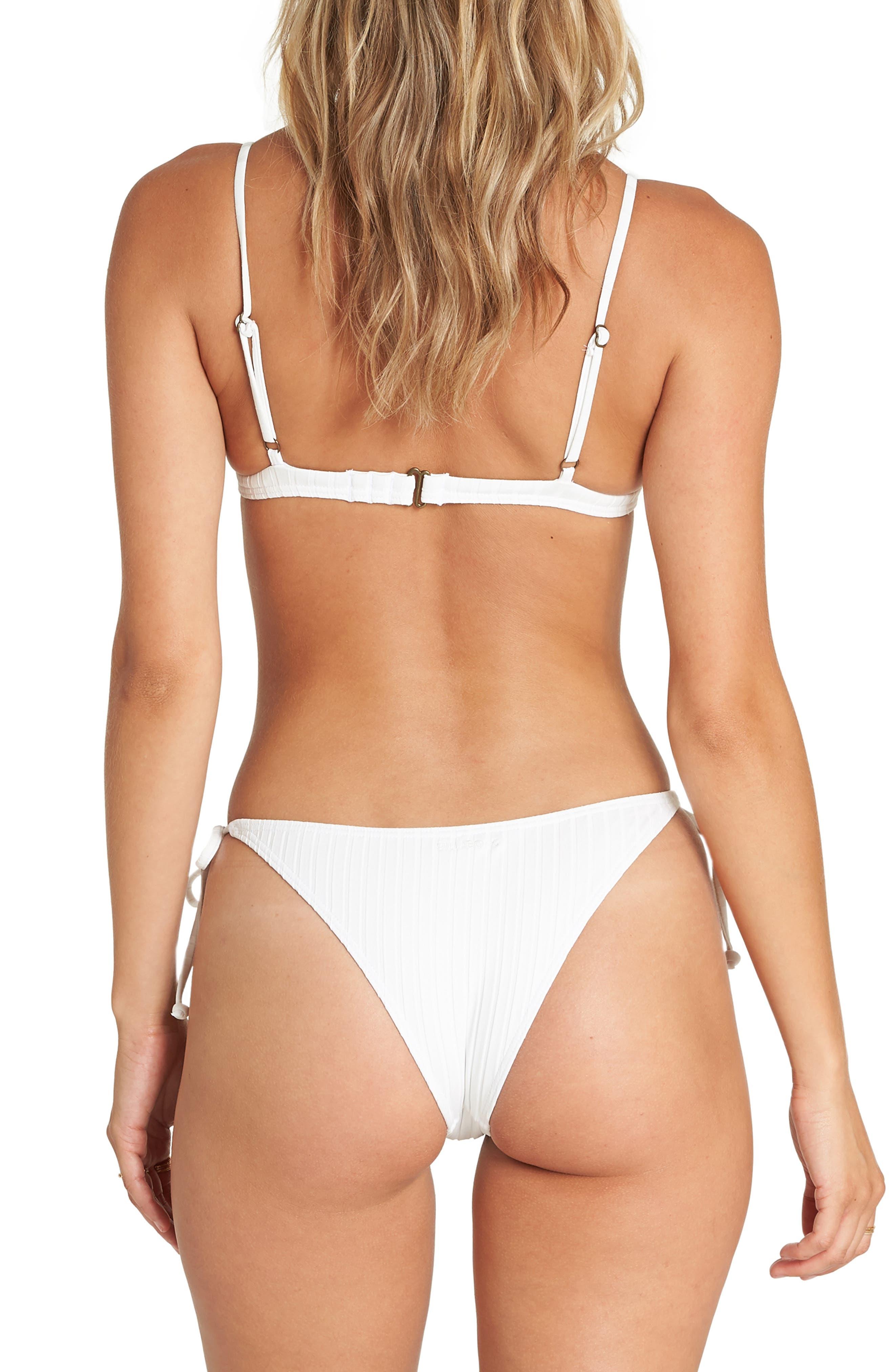 ,                             Sunny Rib Triangle Bikini Top,                             Alternate thumbnail 6, color,                             WHITE