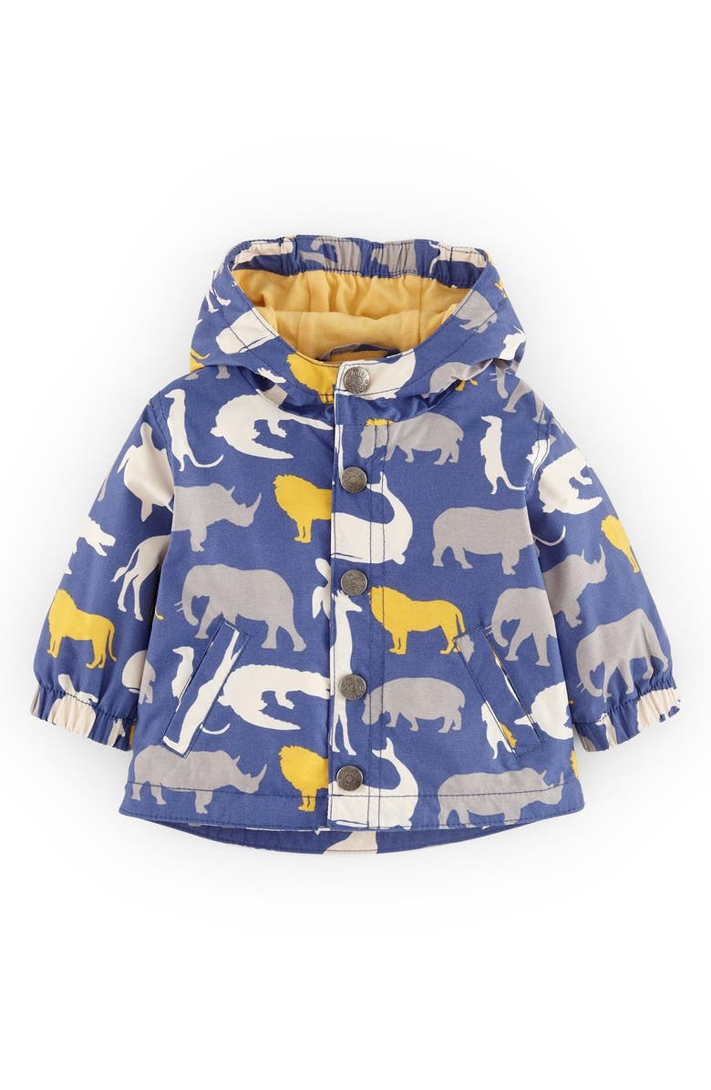 MINI BODEN Water Resistant Fleece Lined Jacket, Main, color, 404