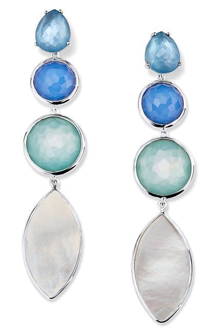 Image of Ippolita 925 Wonderland 4-Stone Linear Earrings in Brazilian Blue