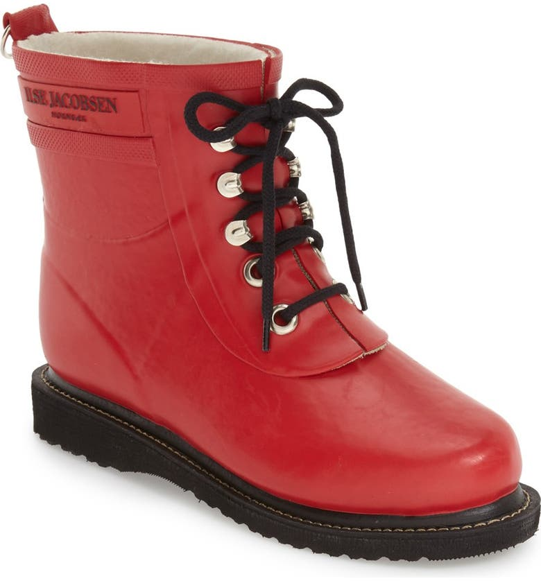 ILSE JACOBSEN 'Rub' Boot, Main, color, DEEP RED