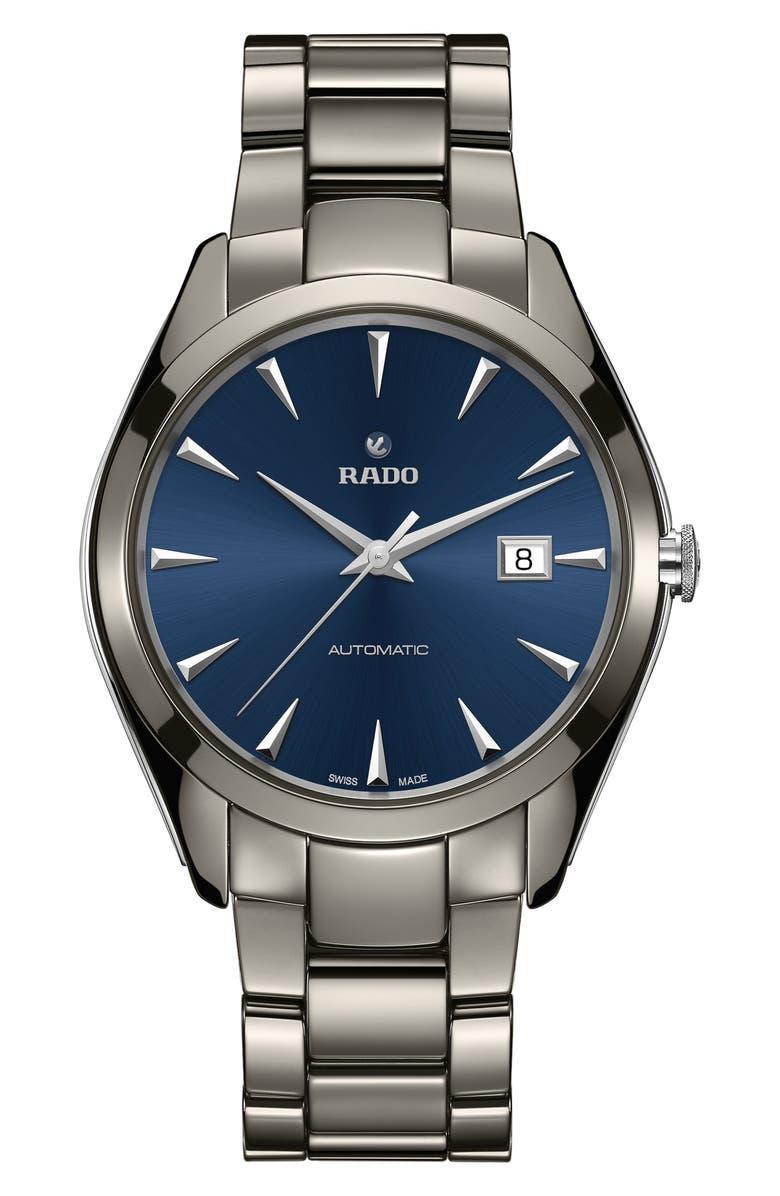 RADO HyperChrome Ceramic Bracelet Watch, 42mm, Main, color, 040