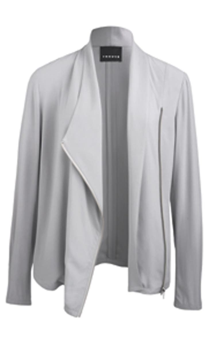 TROUVÉ Draped Moto Jacket, Main, color, 680