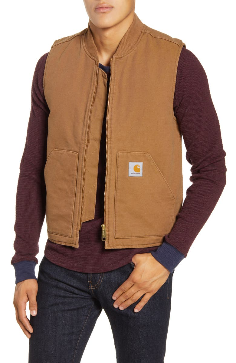CARHARTT WORK IN PROGRESS Classic Vest, Main, color, HAMILTON BROWN