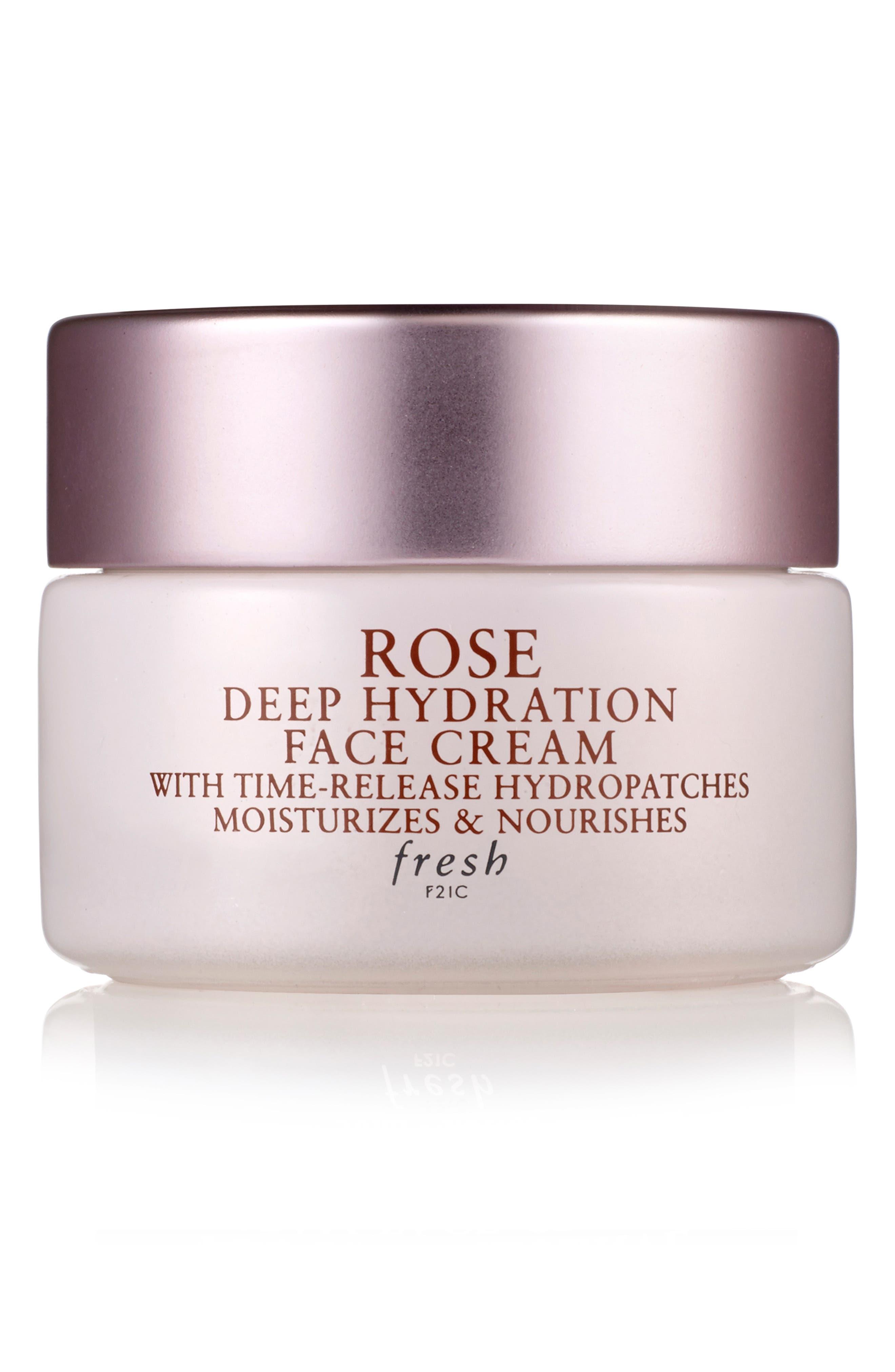 Rose Deep Hydration Face Cream, Main, color, NO COLOR