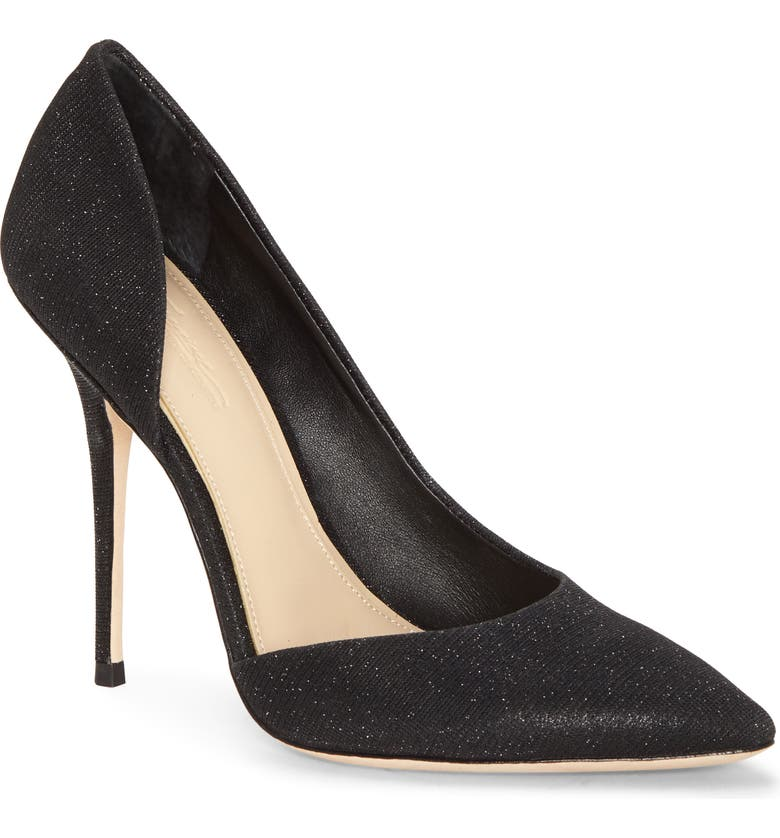 IMAGINE BY VINCE CAMUTO Imagine Vince Camuto Orre Half d'Orsay Pointed Toe Pump, Main, color, BLACK FABRIC