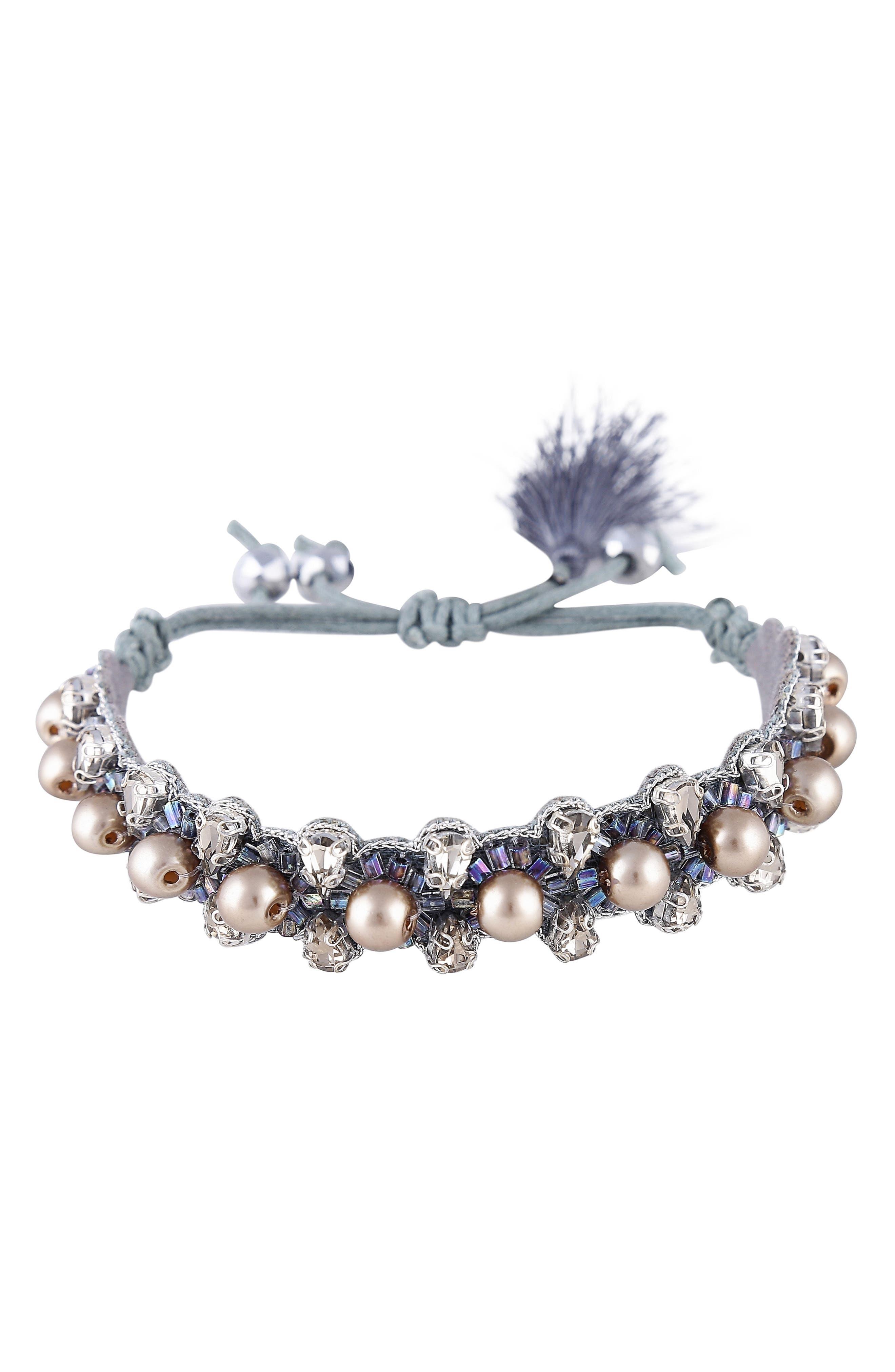 Camryn Imitation Pearl & Crystal Bracelet