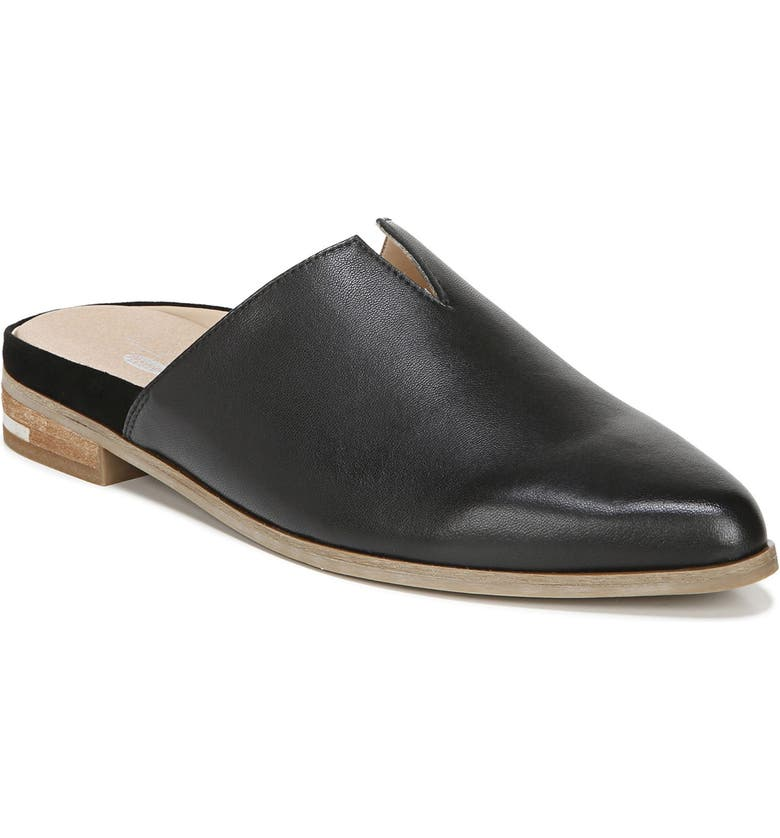 DR. SCHOLL'S Freya Mule, Main, color, BLACK LEATHER