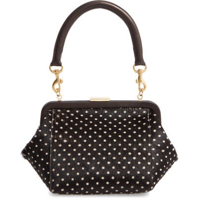 Clare V. Le Box Genuine Calf Hair Top Handle Bag - Black