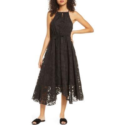 Elizabeth Crosby Charlize Handkerchief Hem Dress, Black