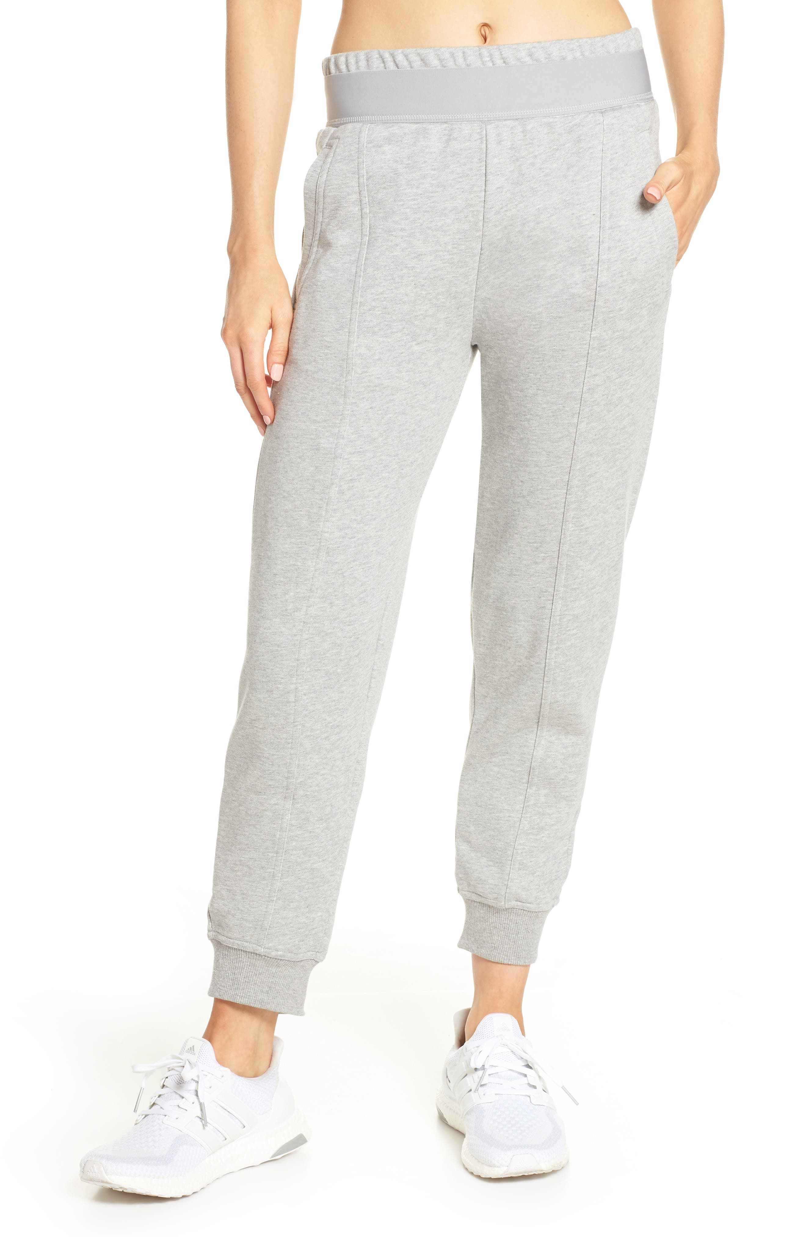 Essentials Sweatpants, Main, color, MEDIUM GREY HEATHER