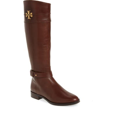 Tory Burch Everly Knee High Boot Regular Calf- Brown