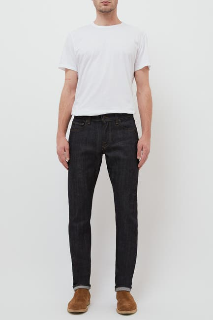 Image of BALDWIN Henley Slim Fit Raw Selvedge Denim Jeans