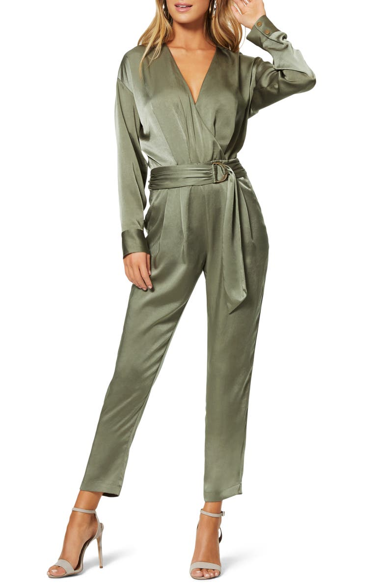 RAMY BROOK Crosby Long Sleeve Satin Jumpsuit, Main, color, 330