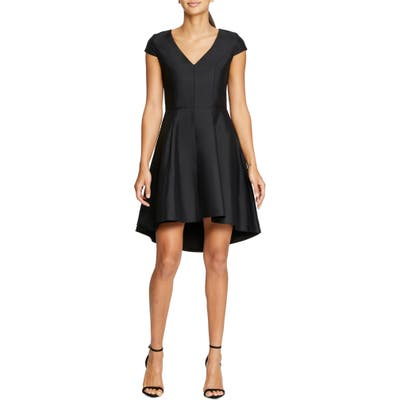 Halston Heritage High/low Cocktail Dress, Black