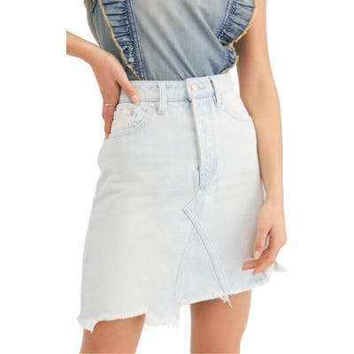 Free People Going Rogue Denim Skirt, Blue
