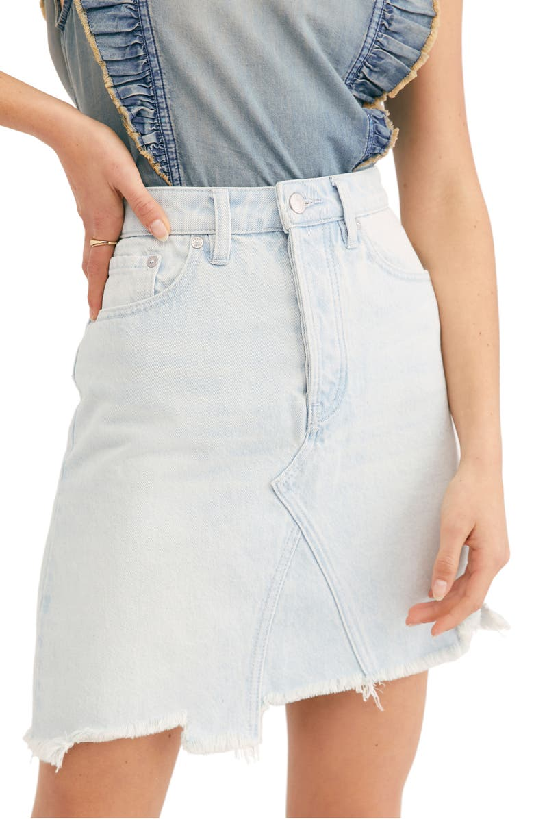 FREE PEOPLE Going Rogue Denim Skirt, Main, color, 459