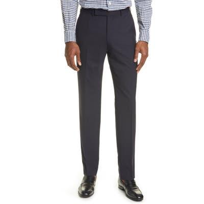 Ermenegildo Zegna High Performance Wool Dress Pants, 0 US - Blue