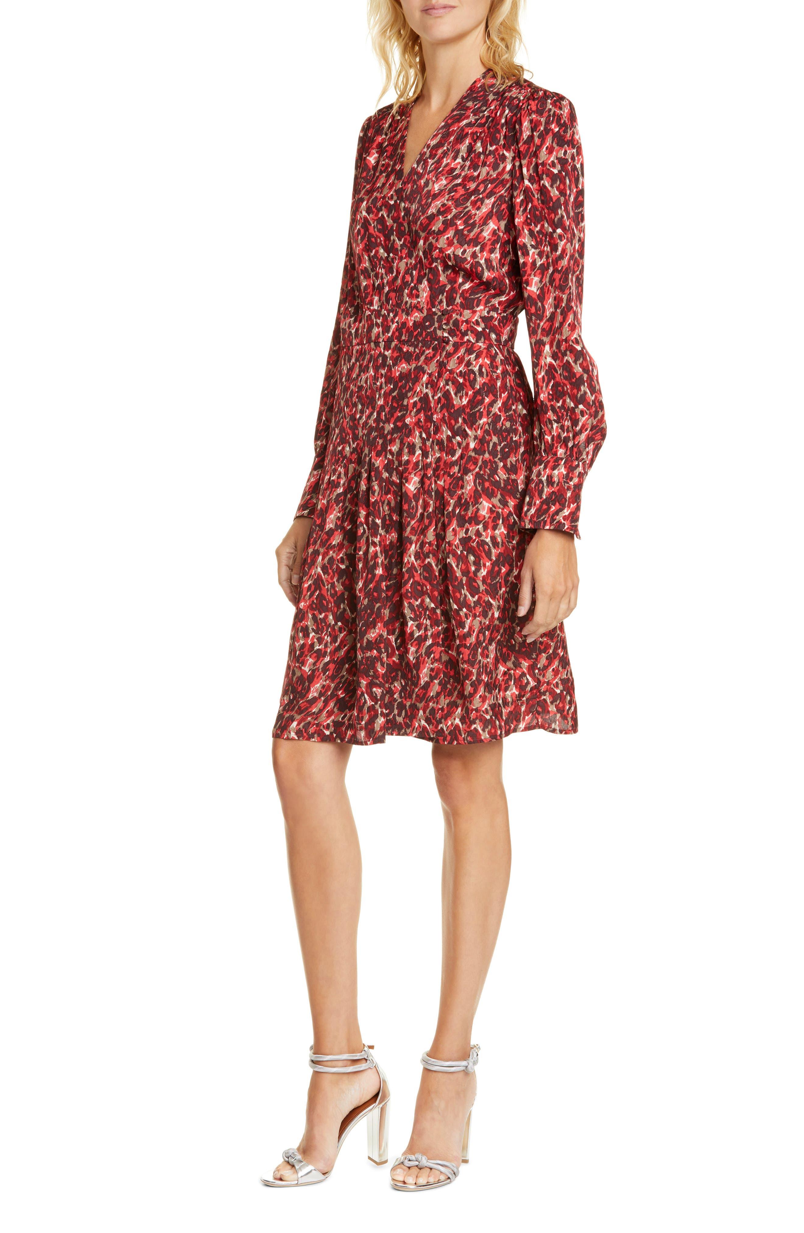 Equipment Dresses Jenesse Print Long Sleeve Dress
