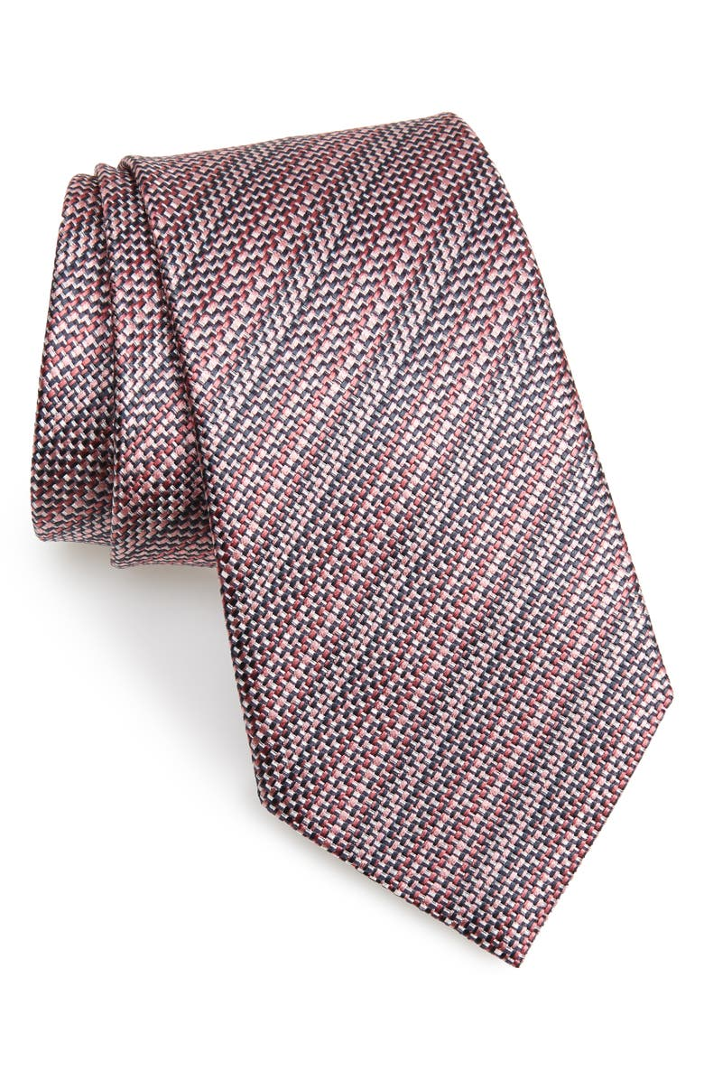 ERMENEGILDO ZEGNA Subtle Stripe Silk Tie, Main, color, 664