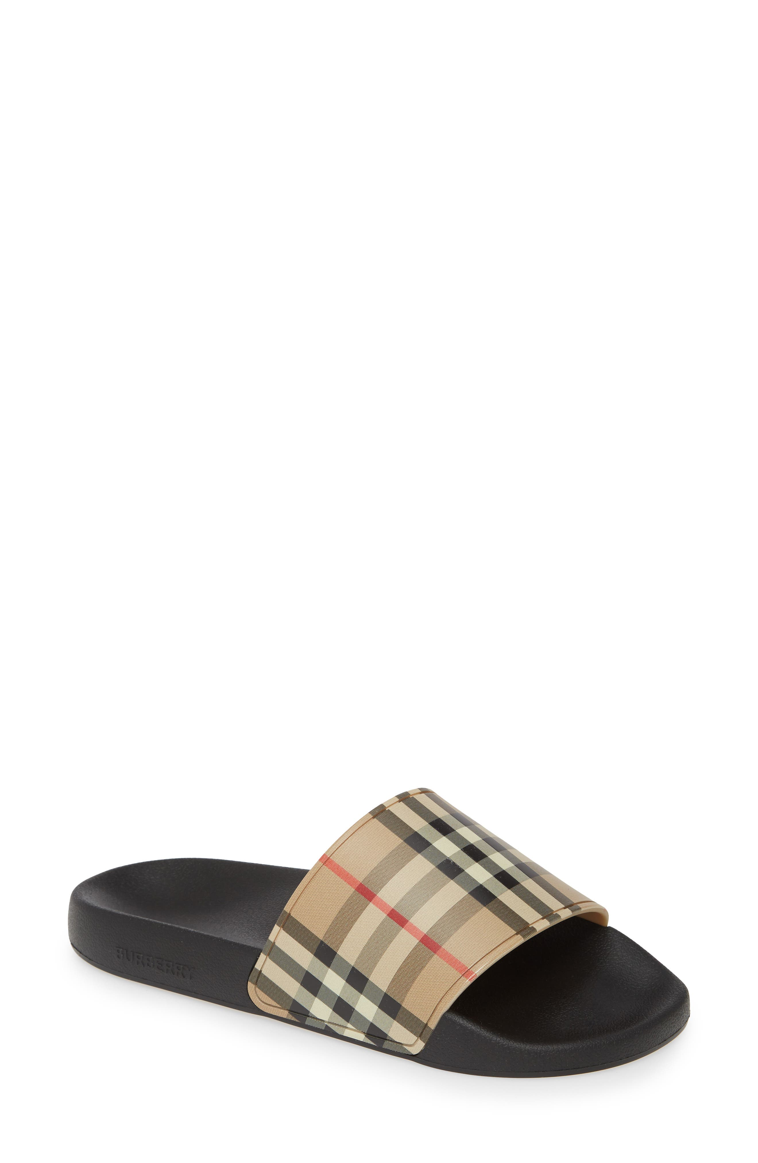 Burberry Furley Vintage Check Slide Sandal (Women)