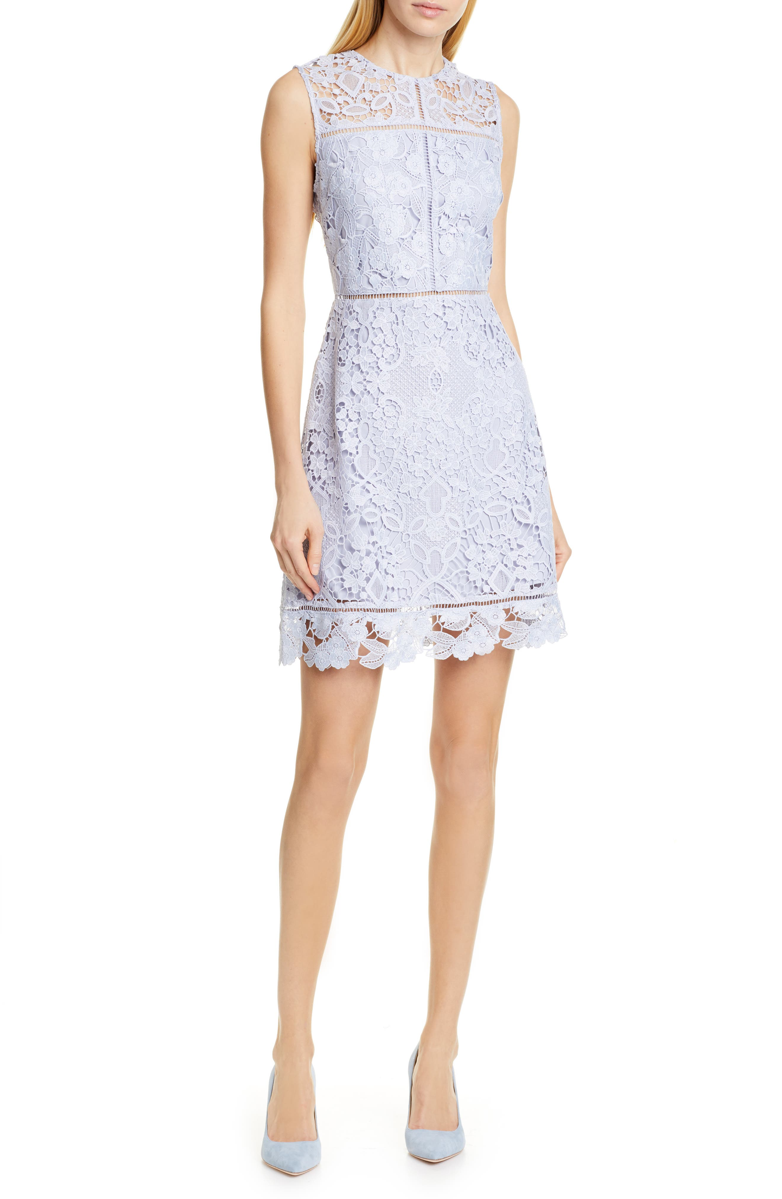 Ted Baker London Primrose Lace Dress, Blue