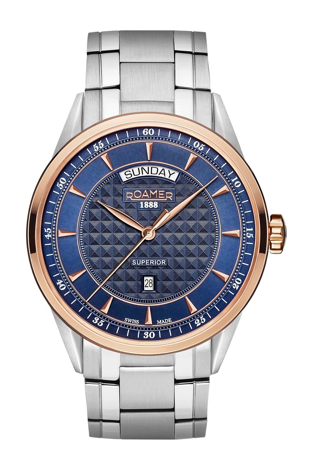 Image of Roamer Men's Superior Day Date Bracelet Watch