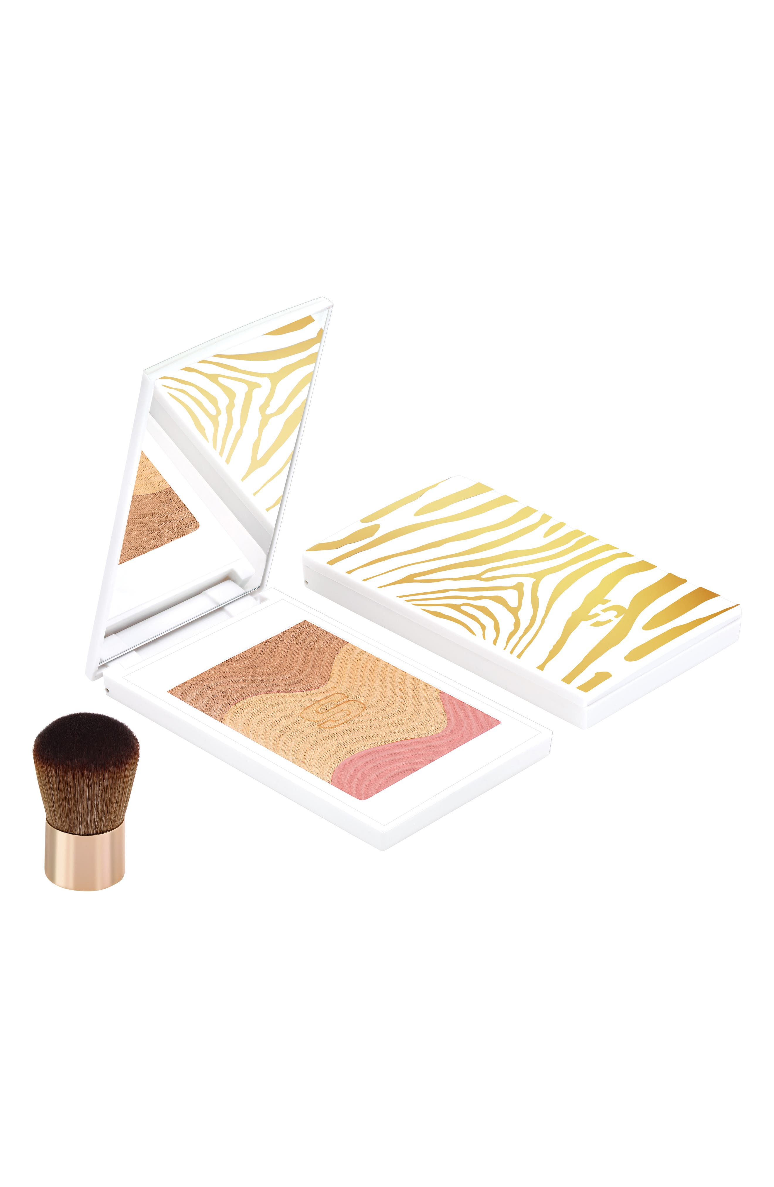What it is: A creamy powder that provides a unique sensory experience to create a customizable sun-kissed look. Who it\\\'s for: All skin types. What it does: The wave design comprises two golden beige shades for customizing the sun effect and a blush shade to add freshness and brightness. Its imperceptible texture melts onto the skin like a cream for a smoothing, perfectly even result with no powdery effect. It blends perfectly with your skin and