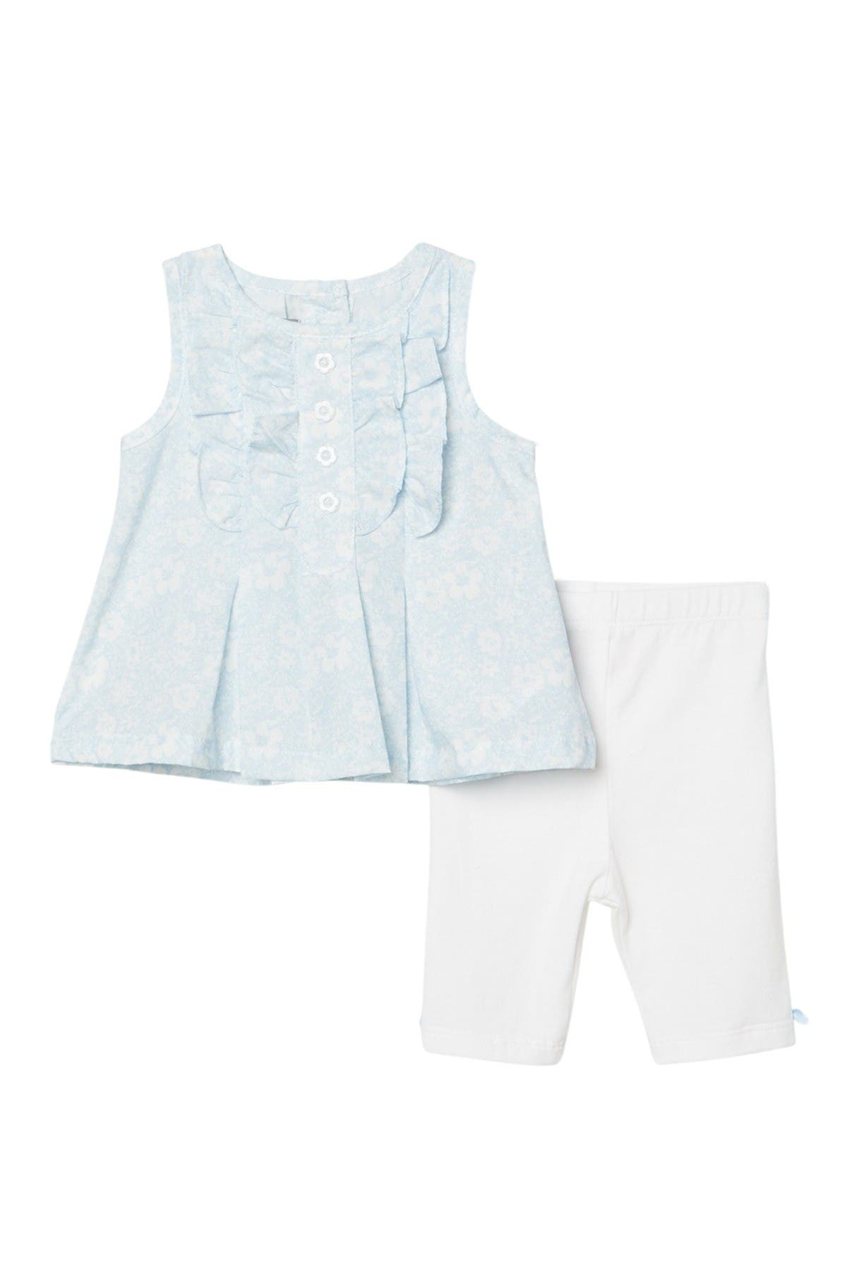 Image of Pippa & Julie Ruffled Tank Top & Capris Set